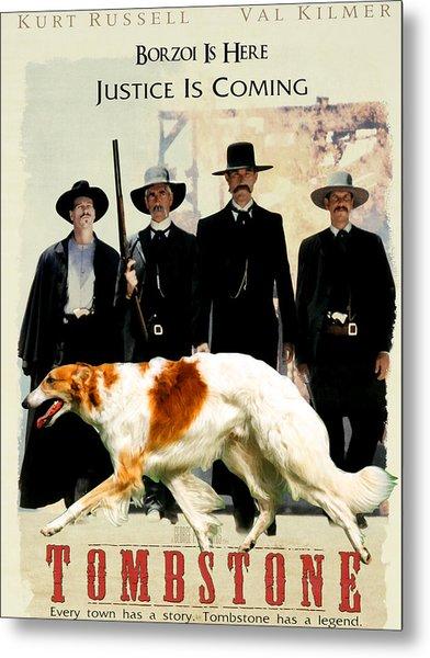 Borzoi Art - Tombstone Movie Poster Metal Print