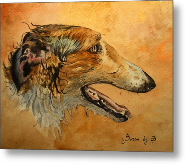 Borzoi Dog Metal Print
