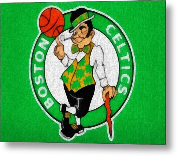 Boston Celtics Canvas Metal Print