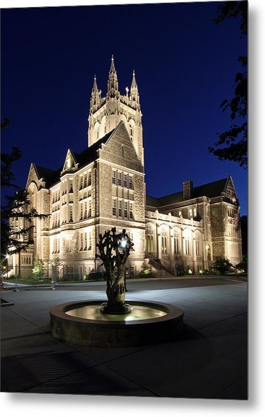 Boston College Gasson Hall Metal Print by Juergen Roth