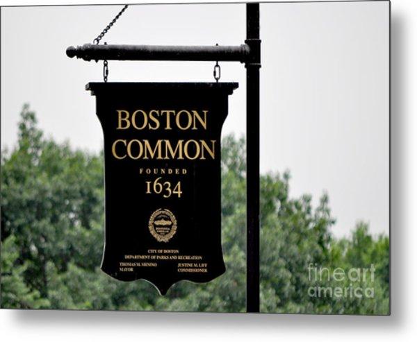 Boston Common Ma Metal Print