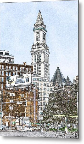 Boston Custom House Tower Metal Print