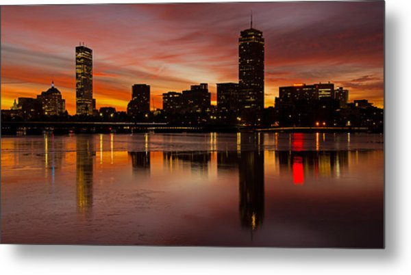 Boston Dawn Metal Print by Ken Stampfer