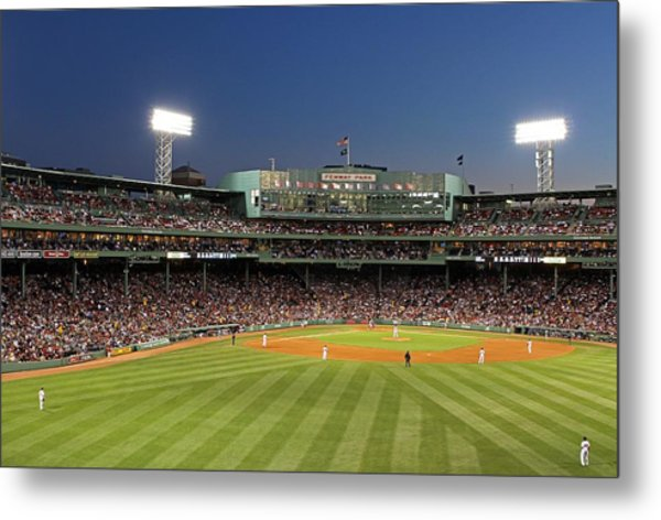 Boston Fenway Park And Red Sox Nation Metal Print