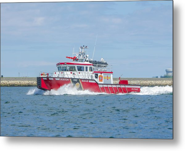 Boston Fire Marine 1 Metal Print