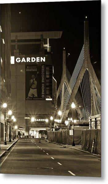 Boston Garder And Side Street Metal Print