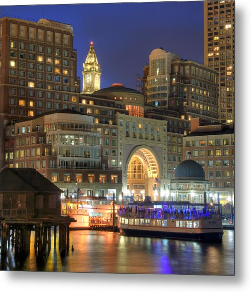 Boston Harbor Party Metal Print