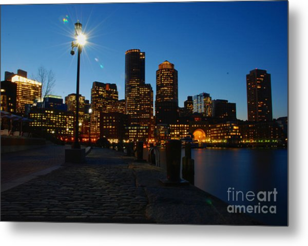 Boston Harbour Metal Print