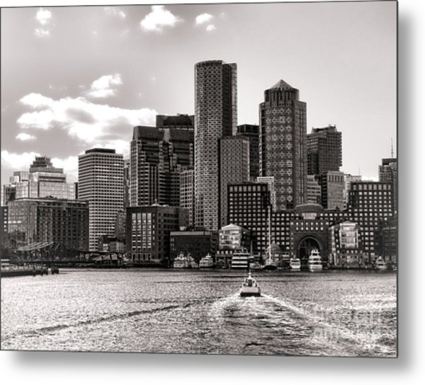 Metal Print featuring the photograph Boston by Olivier Le Queinec