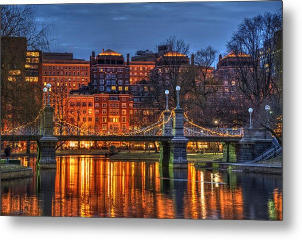 Boston Public Garden Lagoon Metal Print