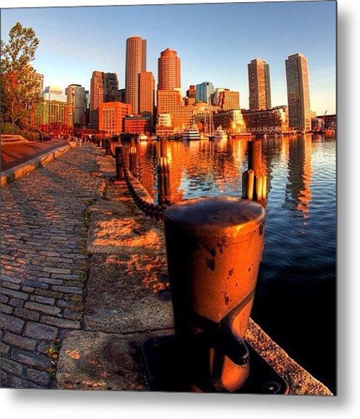Boston Skyline From Fan Pier Metal Print