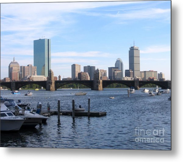Boston Skyline Metal Print by Jason Clinkscales