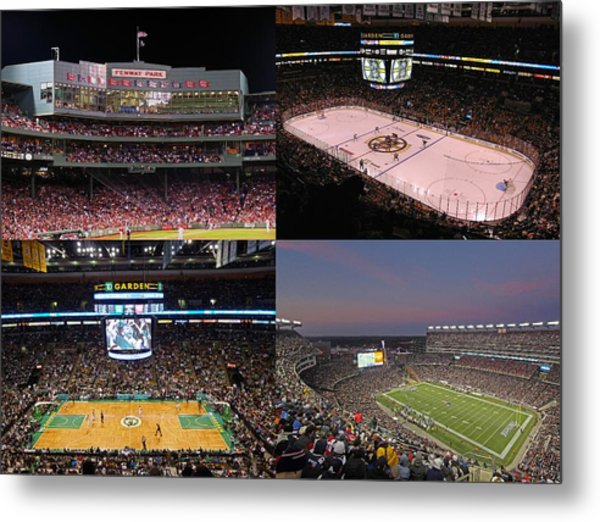 Boston Sports Teams And Fans Metal Print