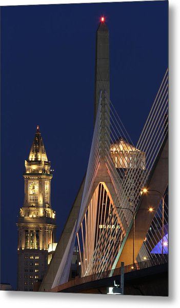Boston Tall And Strong Metal Print