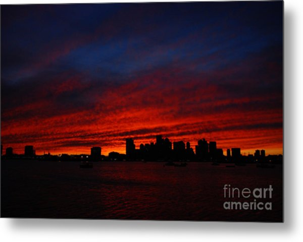 Boston Twilight Metal Print