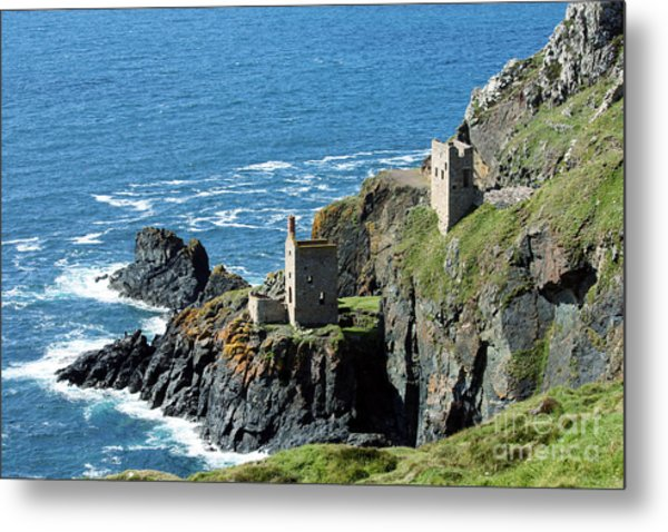Botallack Crown Engine Houses Cornwall Metal Print