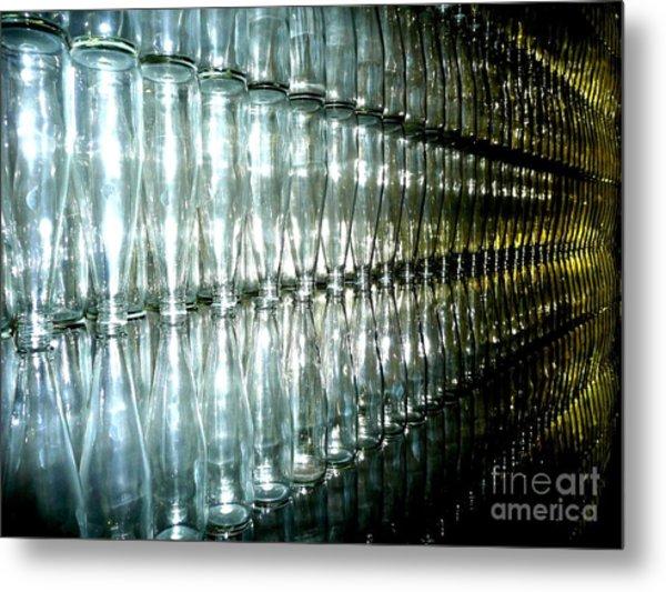 Bottle Wall Metal Print by Sara Graham