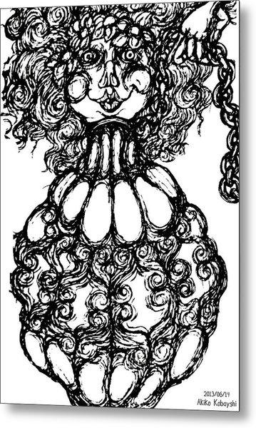 Bottled Lady Metal Print