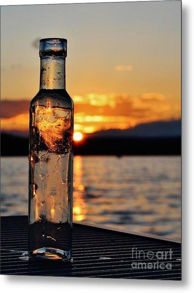 Bottled Sun Metal Print