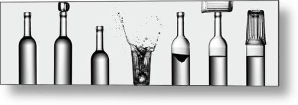 Bottles Game Metal Print