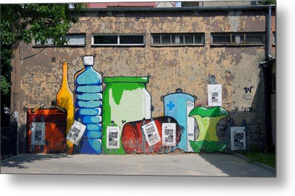 Bottles  Metal Print by Kees Colijn