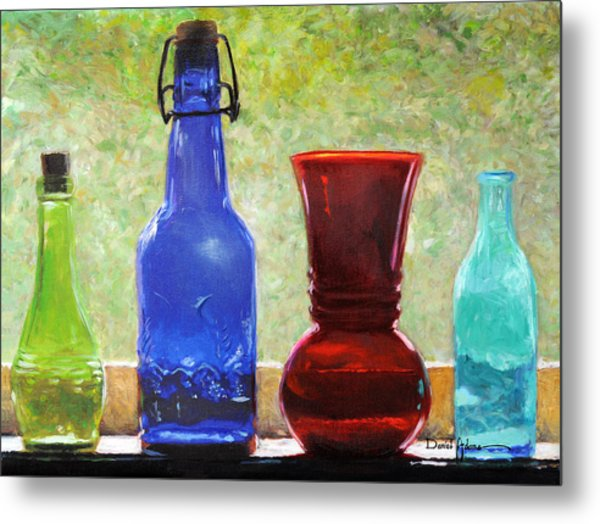Da142 Bottles Of Time Daniel Adams Metal Print
