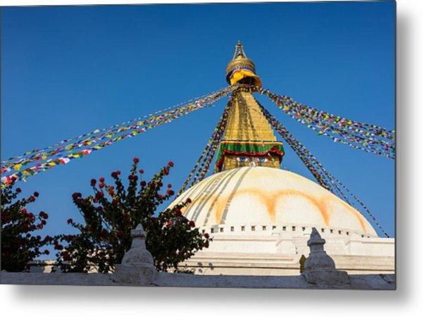 Boudhanath Stupa Metal Print