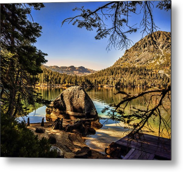 Metal Print featuring the photograph Boulder At Fallen Leaf Lake by William Havle