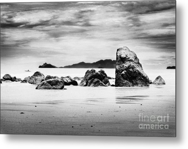 Boulders On The Beach Metal Print by William Voon
