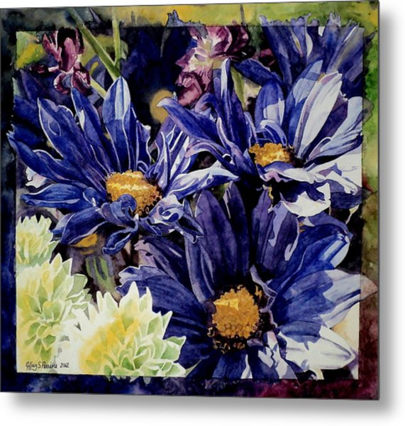 Bouquet Blues Metal Print
