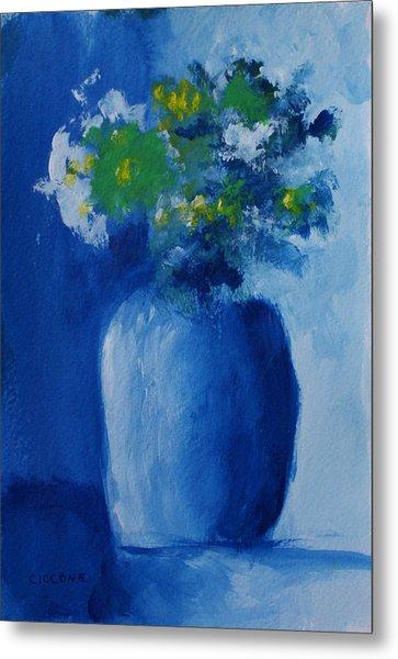 Bouquet In Blue Shadow Metal Print