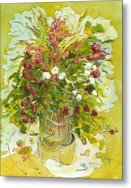 Bouquet Jaune - Original For Sale Metal Print by Bernard RENOT
