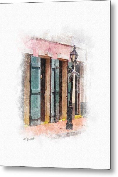 Bourbon Street Lamp Post Metal Print