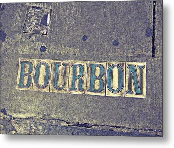 Bourbon Street Tiles Metal Print