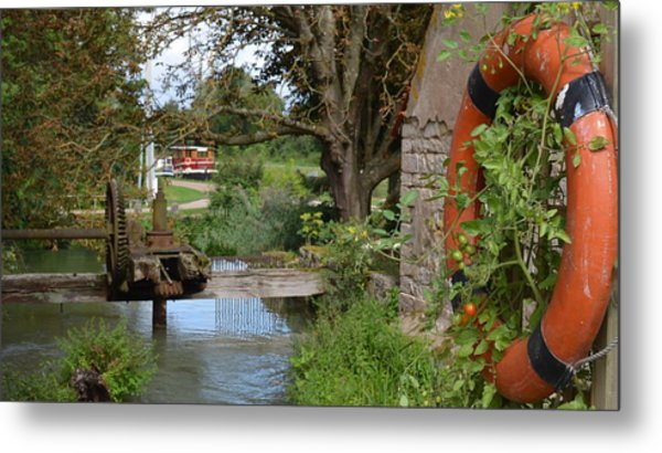 Bouy By Canal Metal Print