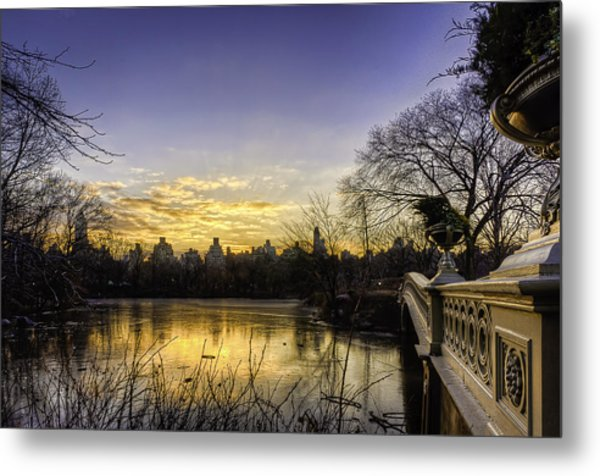 Bow Bridge Sunrise Metal Print