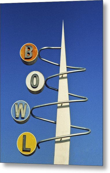 Bowl Sign Metal Print