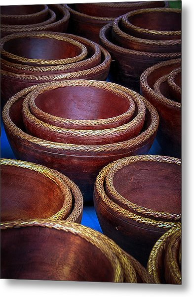 Bowls Metal Print by Connie Anderson