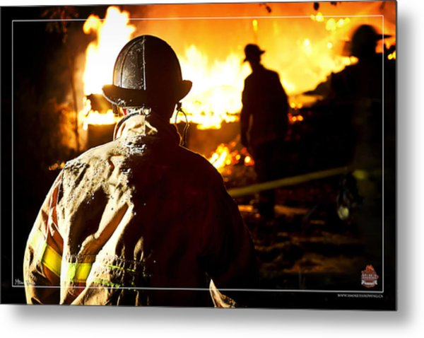 Box Alarm Metal Print by Mitchell Brown