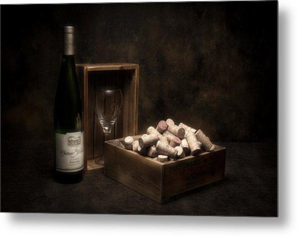 Box Of Wine Corks Still Life Metal Print
