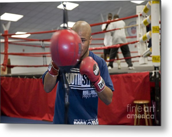 Boxer At Olympic Training Facility Metal Print