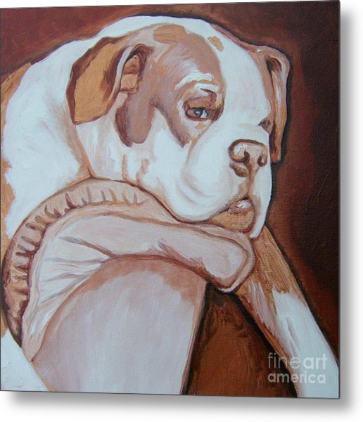Boxer's Day Off Metal Print