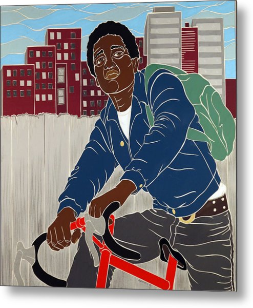 Boy On A Bike Metal Print