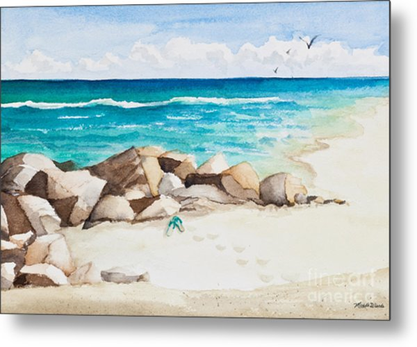Boynton Beach Inlet Watercolor Metal Print