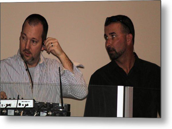 Boys In The Control Booth Metal Print by Carolyn Ricks