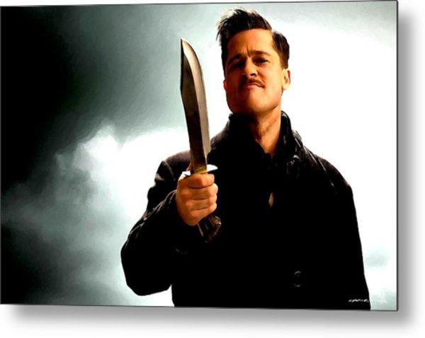 Brad Pitt @ Inglourious Basterds By Tarantino Metal Print