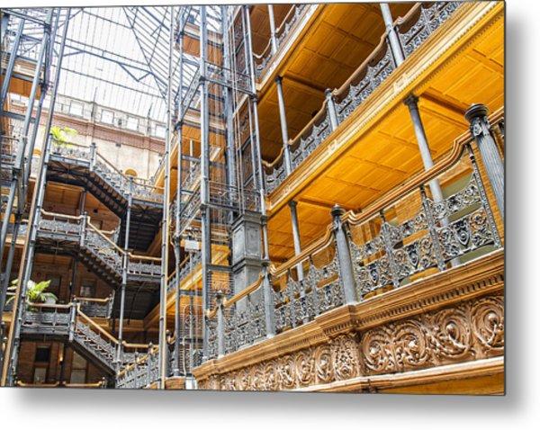 Bradbury Building Interior Metal Print
