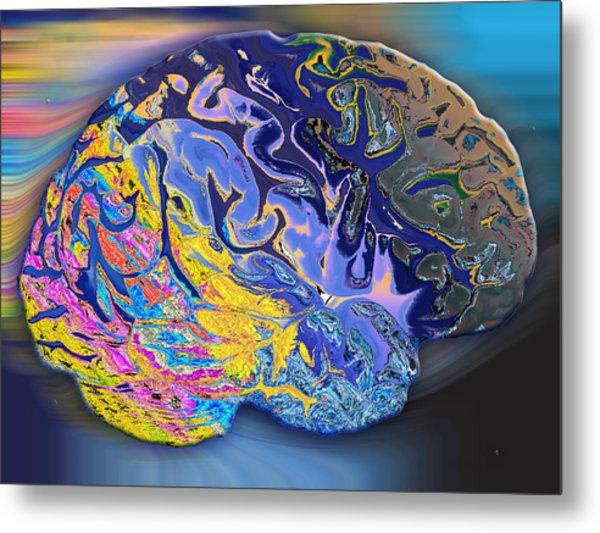 Brain Colours Metal Print by Soumya Bouchachi