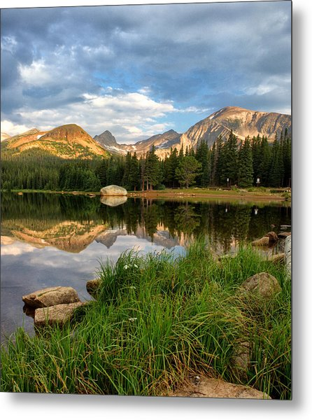 Brainard Lake Reflections Metal Print