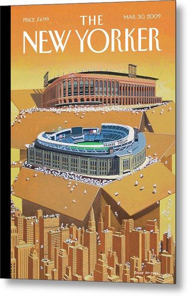 Brand New Yankee's And Met's Stadiums Coming Metal Print